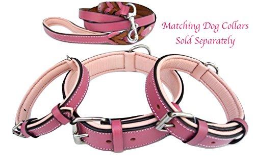 Baby Pink Leather Dog Lead Designer Dog Leash Pink Leather Leash